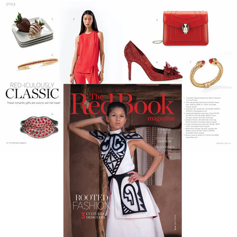 Seneca Jewelry's Ruby Jubilee Talis Cuff in 18k Gold Featured In The Red Book