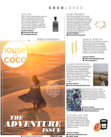 Seneca Jewelry As Seen In House Of Coco Magazine