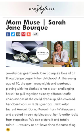 Interview with jewelry designer Sarah Jane Bourque of Seneca Jewelry with Angela Keller of Mom Style Lab