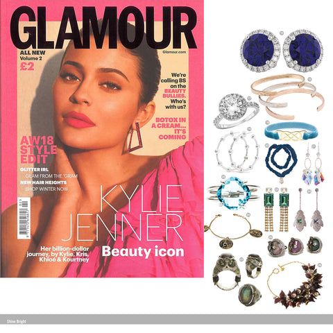 Large Astra Hoop Earrings in Glamour Magazine