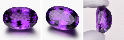 Example of high quality amethyst gemstone