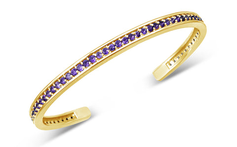 Jubilee Talis Cuff In Amethyst For February Birthdays By Seneca Jewelry