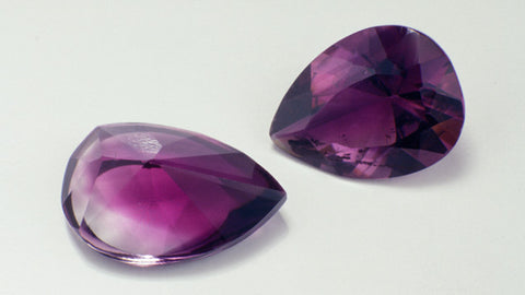Example of amethyst color zoning from GIA