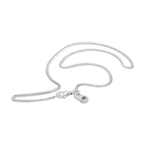 SILVER MICRO CURB CHAIN NECKLACE A SIMPLE MODERN NECKLACE