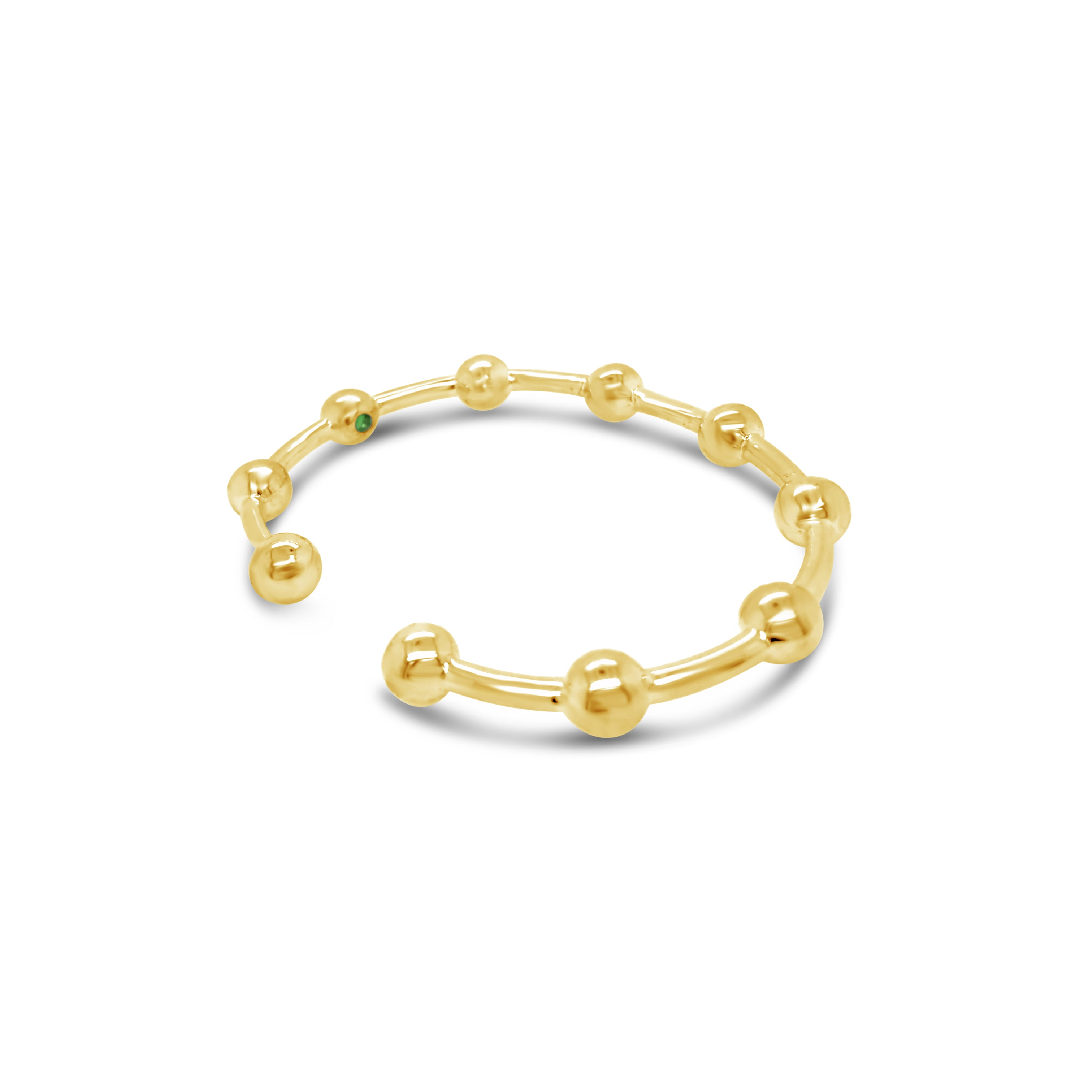 Contemporary 18k gold ball cuff bracelet