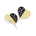 Modern 18k Gold Heart Earrings with Diamonds | Sanguine Luxe Heart Diamond Drop Earring