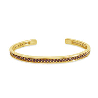 fine jewelry garnet friendship cuff bracelet 18k gold