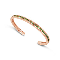 green tourmaline and rose gold bracelet