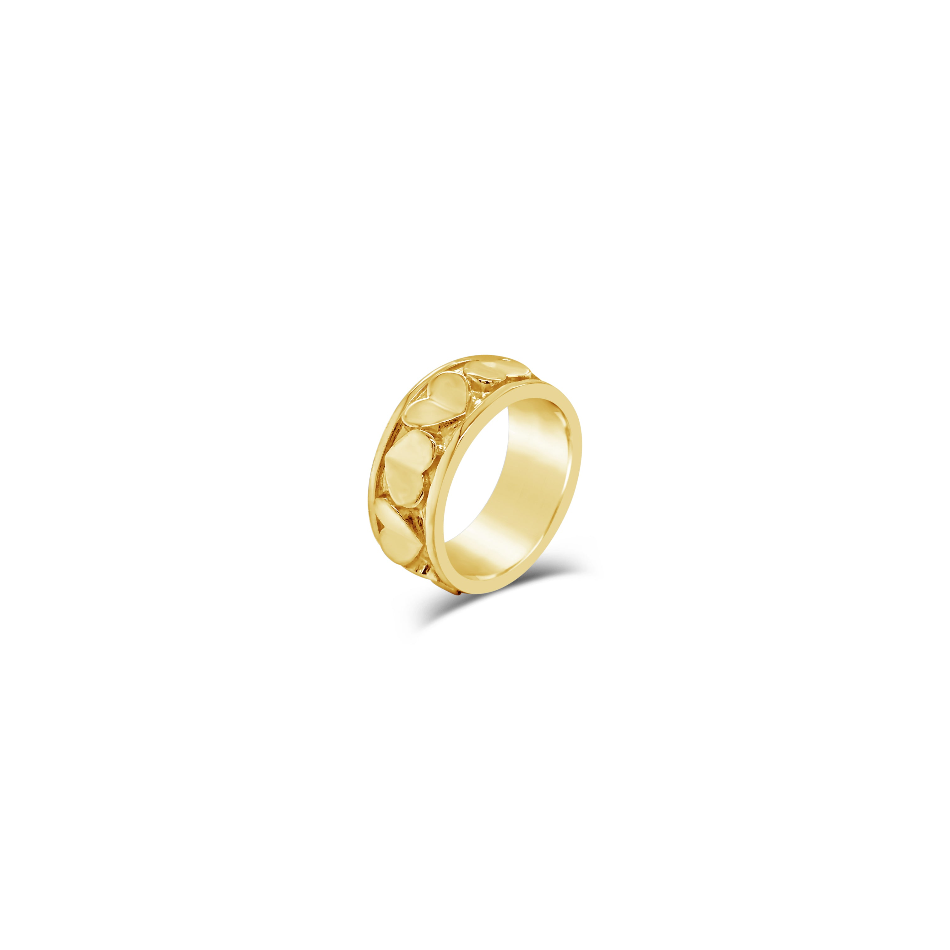 solid 18k gold love heart commitment ring