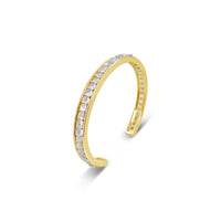 moonstone June birthstone open back gold cuff bracelet