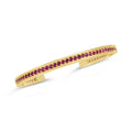 18k Gold Ruby Cuff Bracelet | Heirloom July Birthstone Cuff | Jubilee Talis Cuff