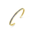 18k Gold Sapphire Cuff Bracelet | Heirloom September Birthstone Cuff | Jubilee Talis Cuff
