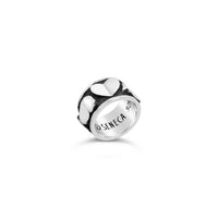 sterling silver extra wide love heart cigar band ring