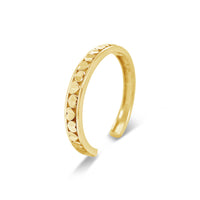 open back forever love heart cuff bracelet 18k gold