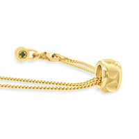 18k gold heart charm slide on rondelle pendant for necklace or bracelet