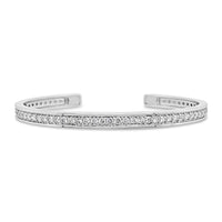 narrow 18k white gold diamond cuff