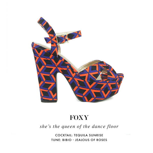 FOXY | Chunky Print Heels | Two Two Shoes