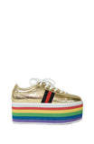 rainbow platform sneakers - Two Two Shoes