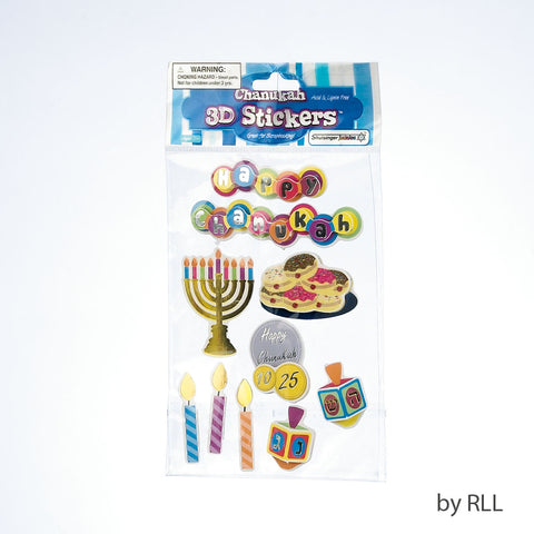 Chanukah 3-D Stickers