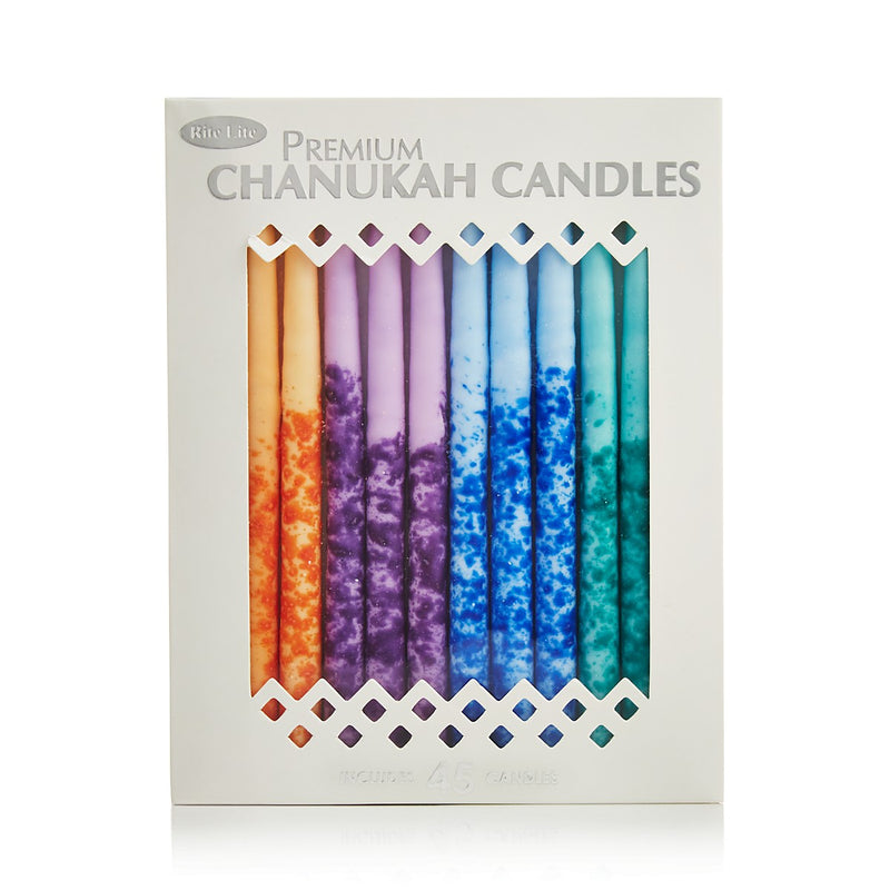 Premium Chanukah Candles Multicolor