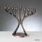Copper Finish Modern Menorah