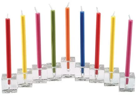 9 Glass Cubes Menorah