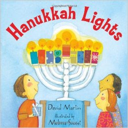 Hanukkah Lights Fun Story and Sticker Book by David Martin