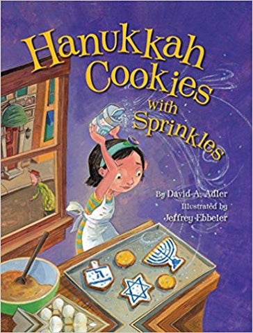 Hanukkah Cookies with Sprinkles by David Adler