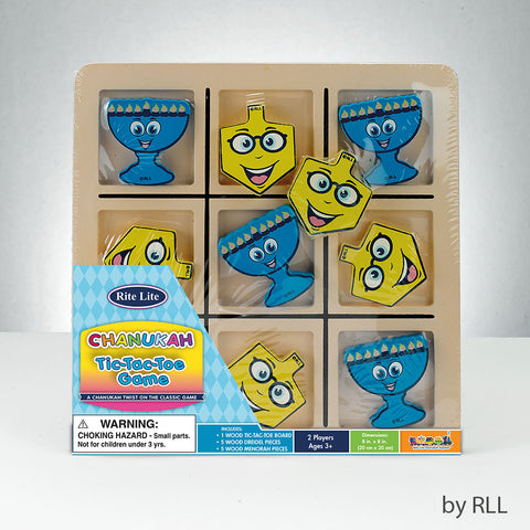 Chanukah Wood Tic-Tac-Toe Game