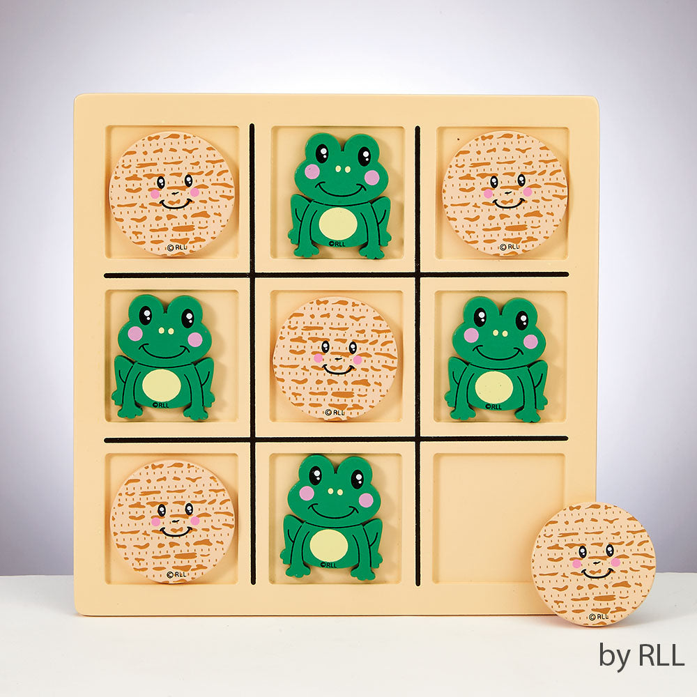 Passover Tic-Tac-Toad Wooden Game