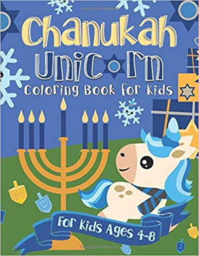 Chanukah Unicorn Coloring Book for Kids