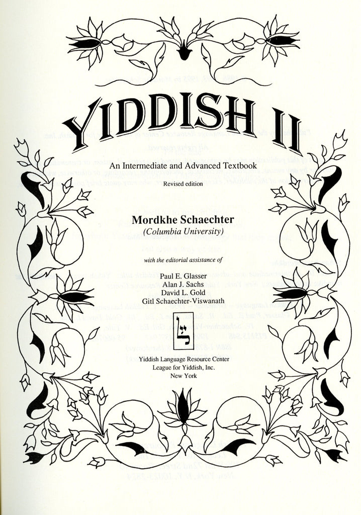 YIDDISH II by Mordkhe Schaechter