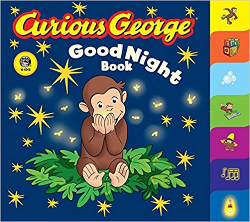 Curious George Goodnight Board Book by H.A. Rey and Margret Rey