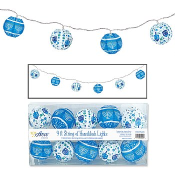 Hanukkah Lantern String Lights