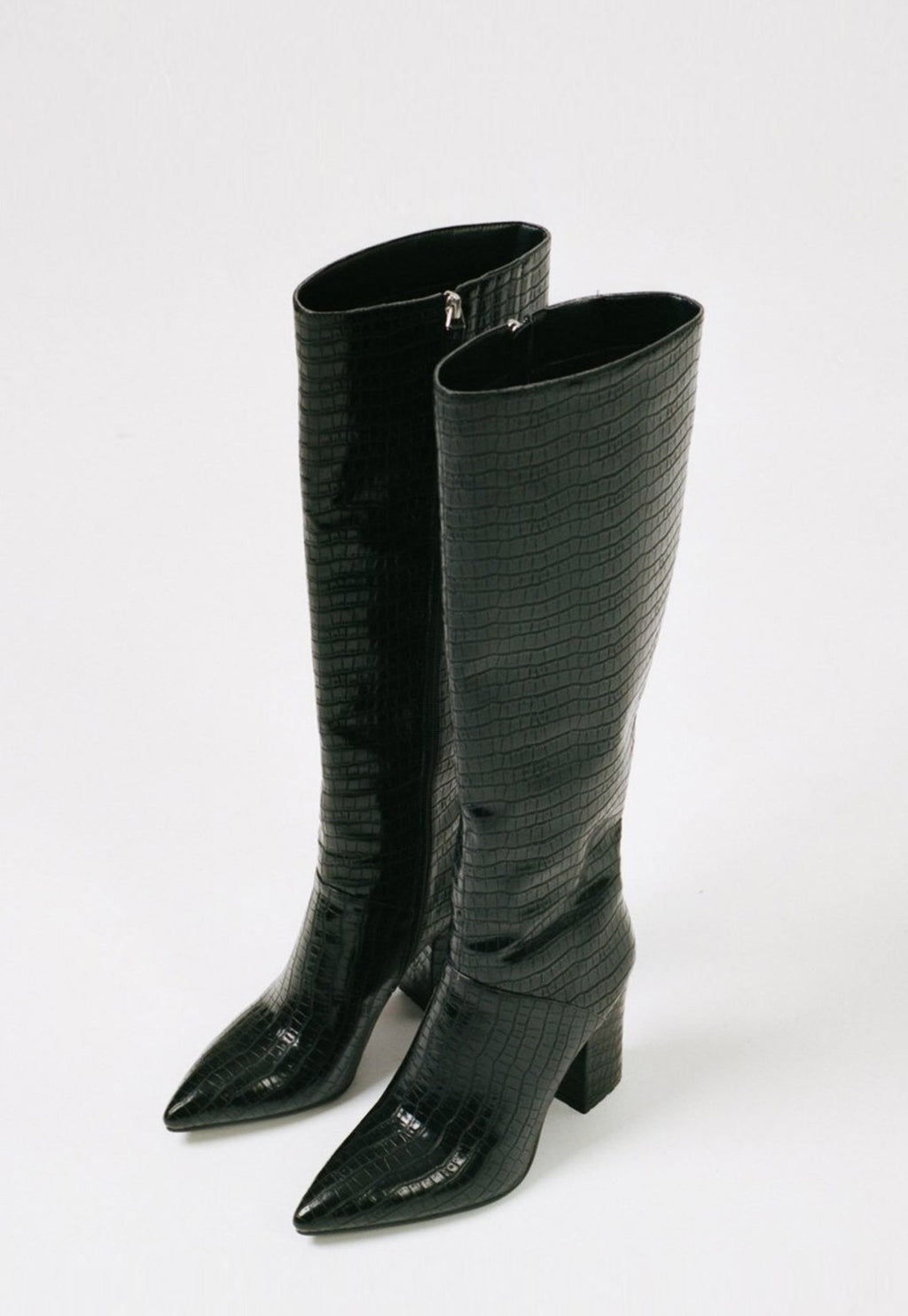 Carina Boot Black Croc