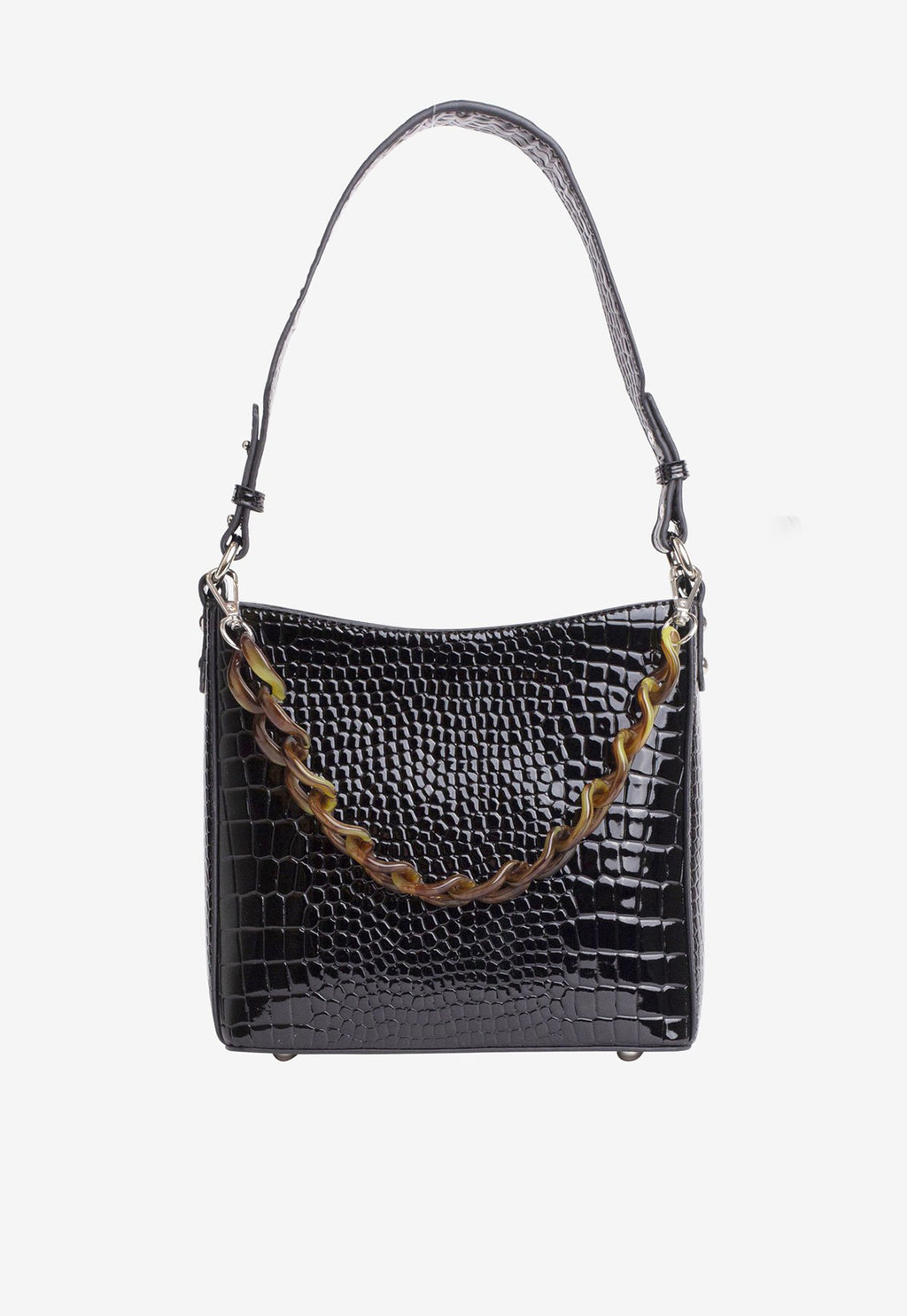 Amble Croco Small Black