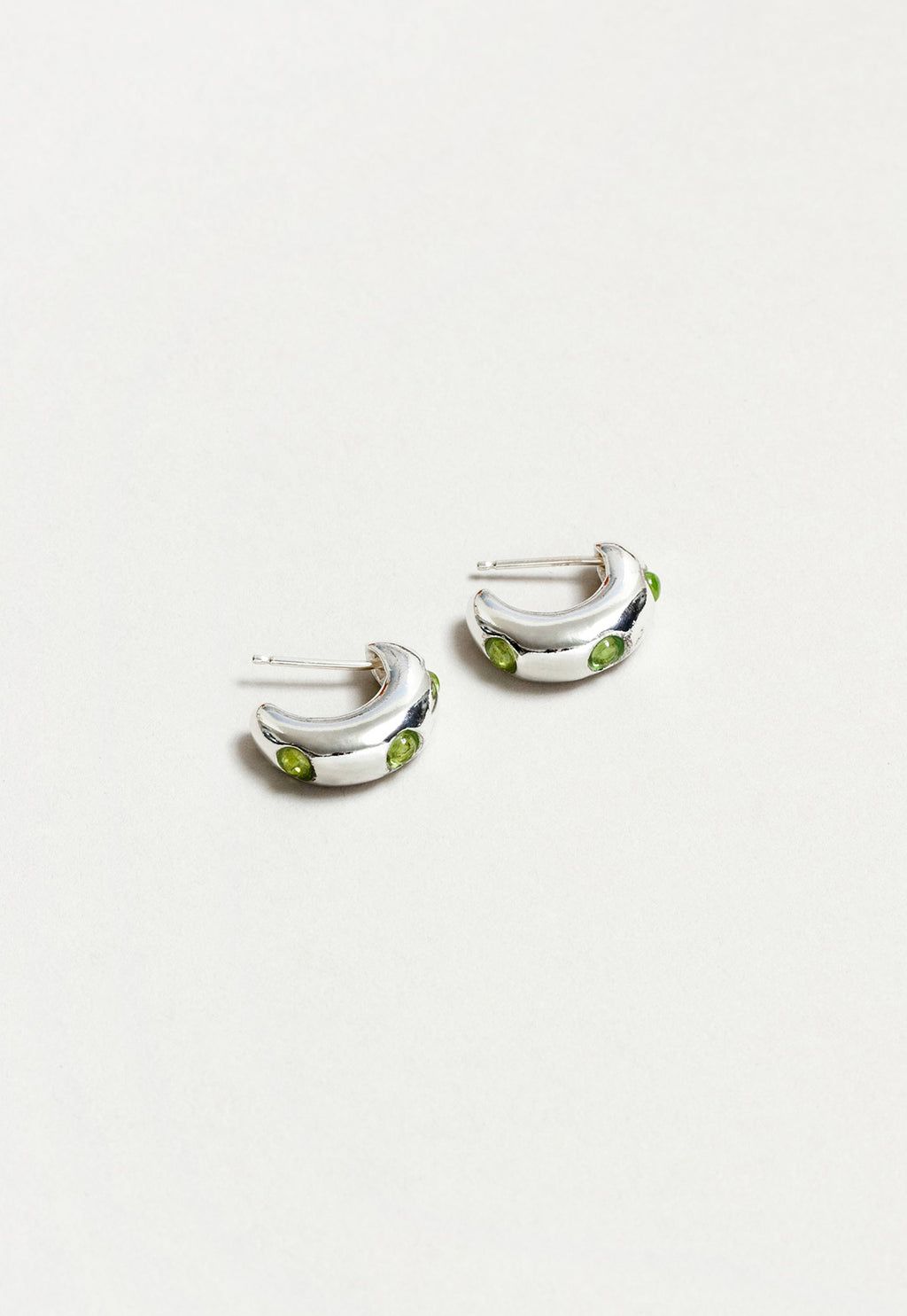 Isla Hoops in Peridot, Sterling Silver