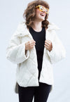 Vegan Leather Jacket in Ivory