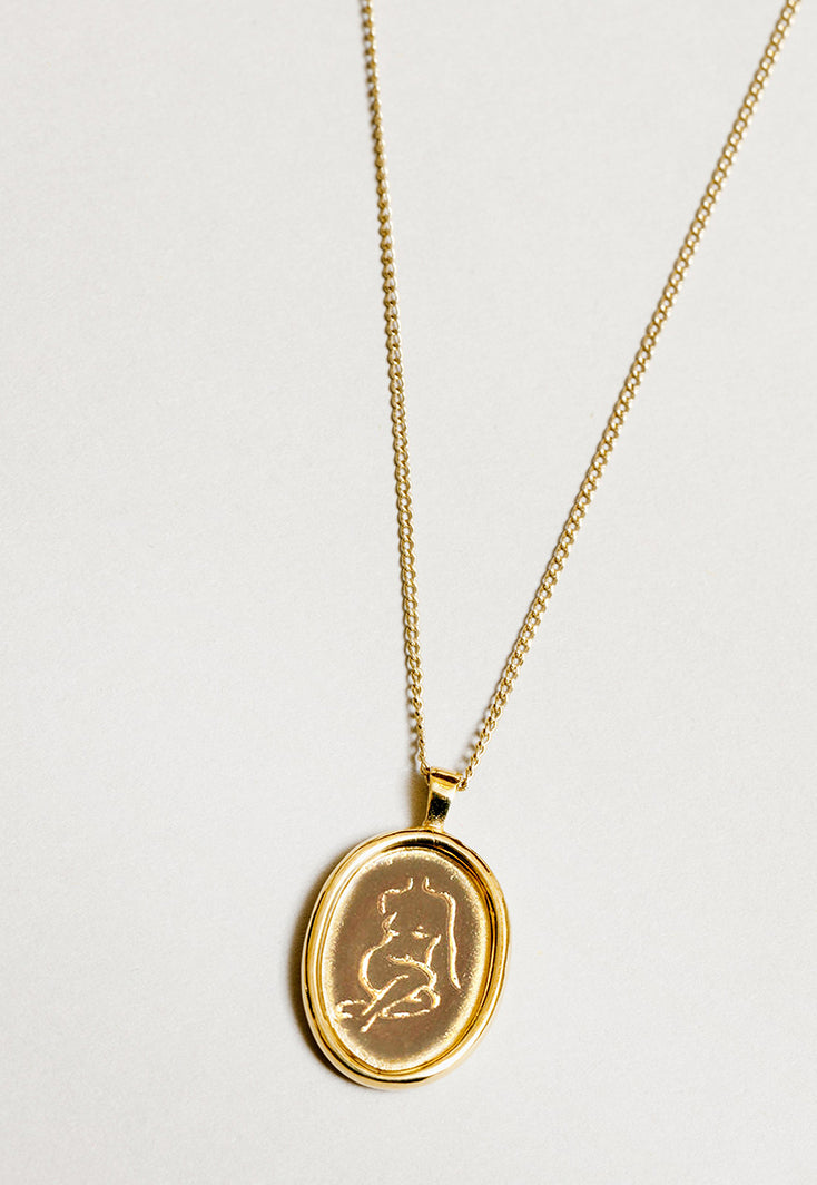 Femme Necklace Gold, jewelry, Wolf Circus, - nois