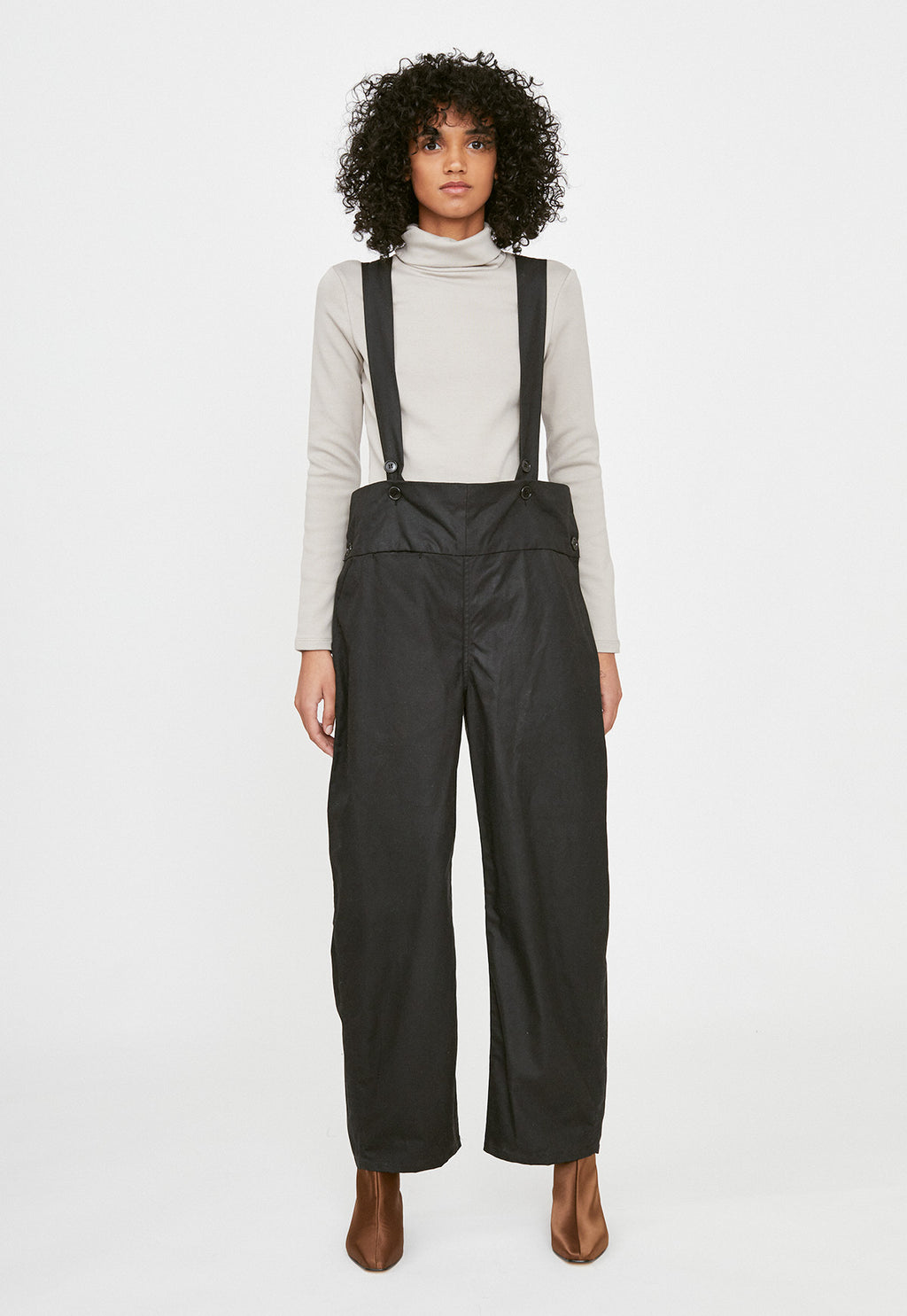 Canyon Overalls in Black Sailcloth