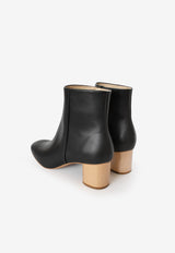 Low Ankle Boots in Natural Heel, shoes, Sydney Brown, - nois