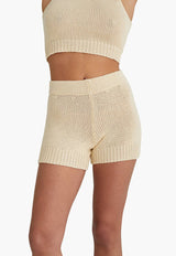 Zubat Knit Shorts Ecru