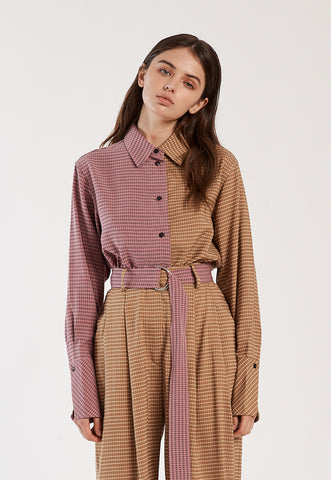 Cielo Jacket in Brown Checkered