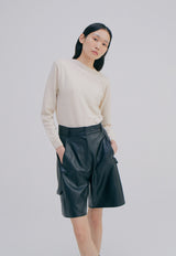 Vegan Leather Half Trousers