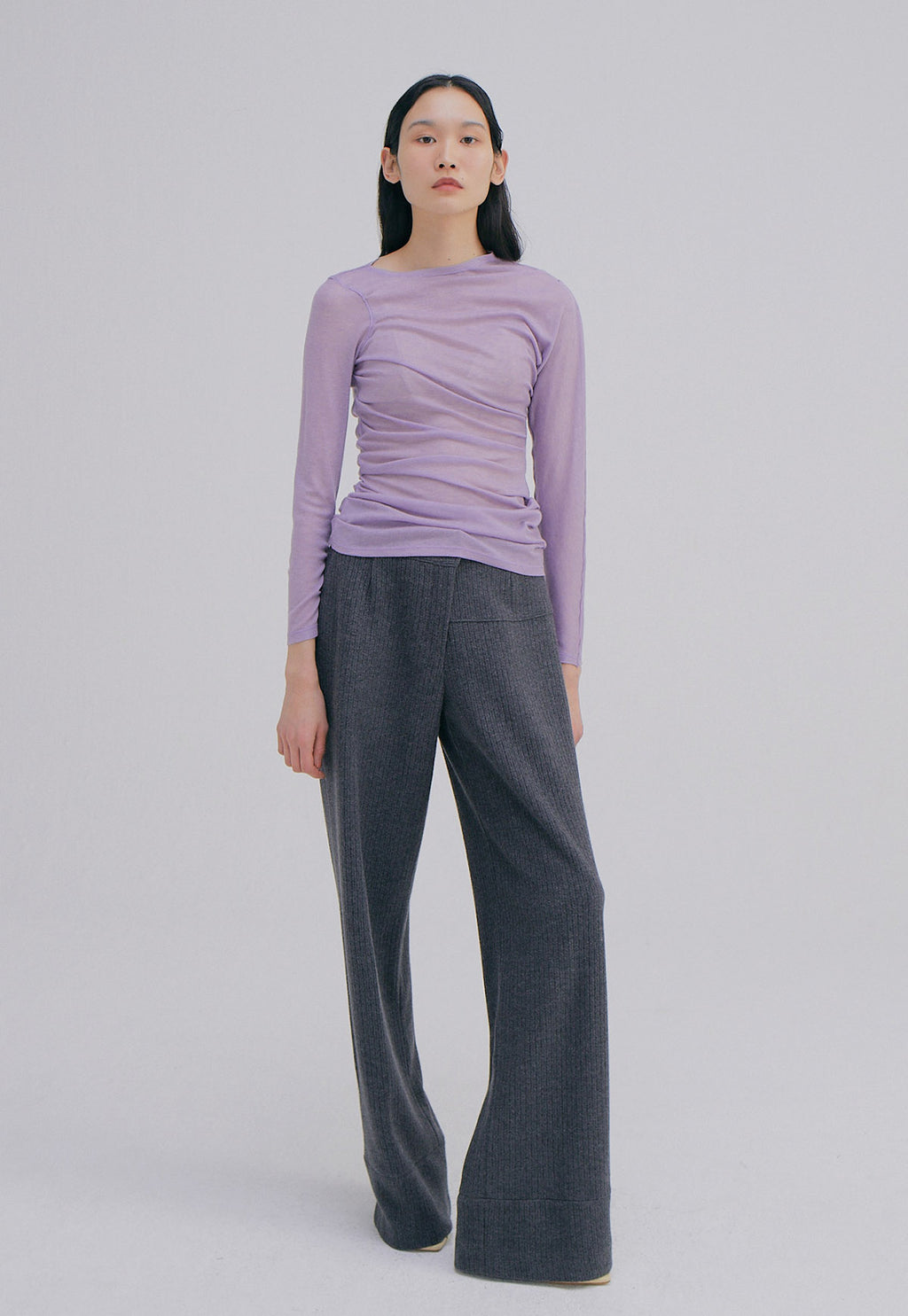 Unbalance Waist Trousers Charcoal