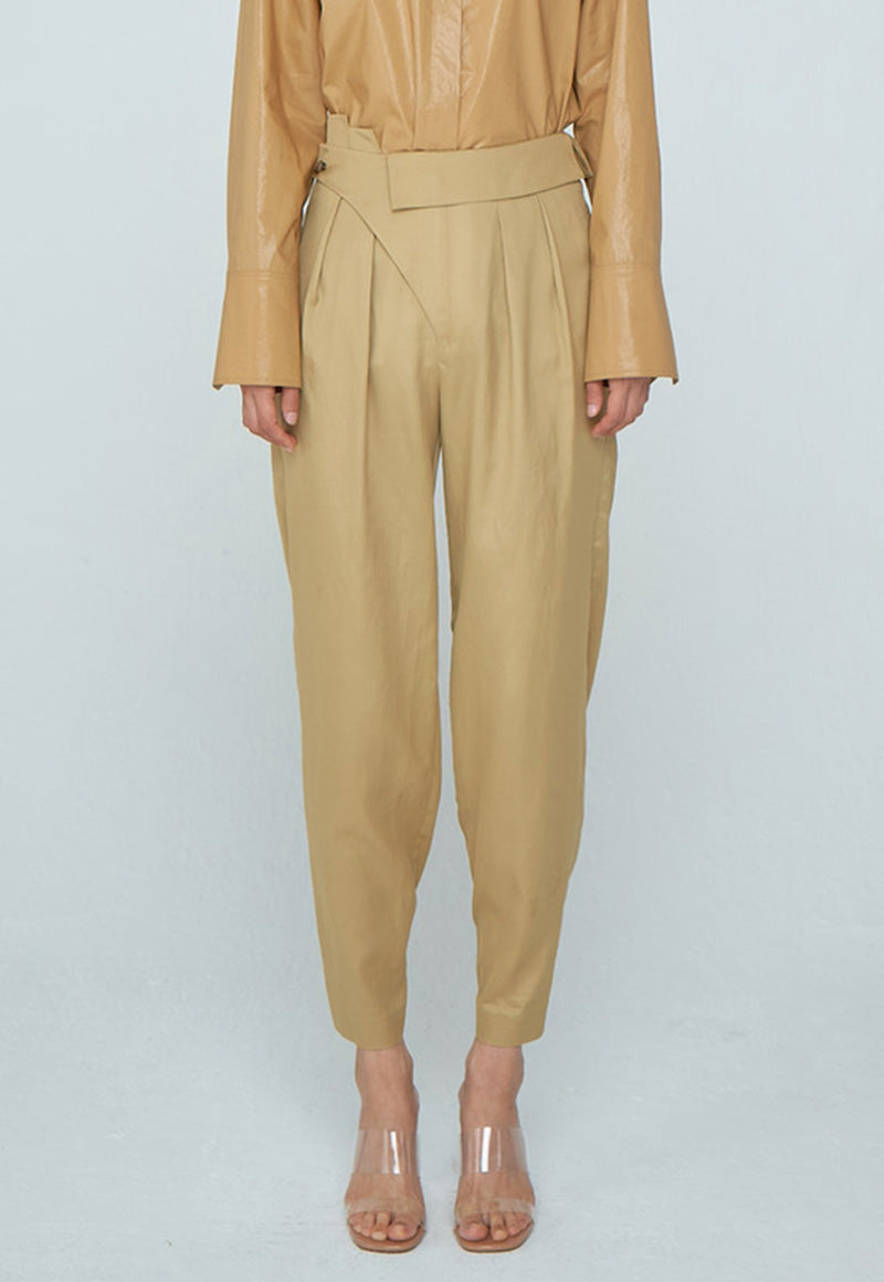 Unbalance Tuck Trousers, bottom, WNDERKAMMER, - nois