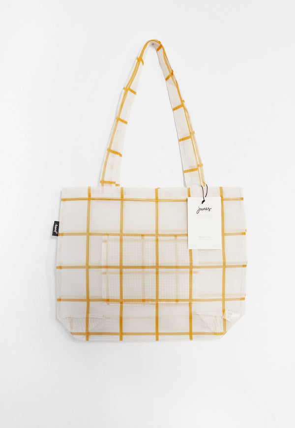 The Market Tote Bio-Knit Gold Grid