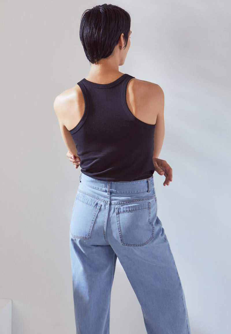 Linear Jeans in Pale Blue Denim, bottom, KOWTOW, - nois