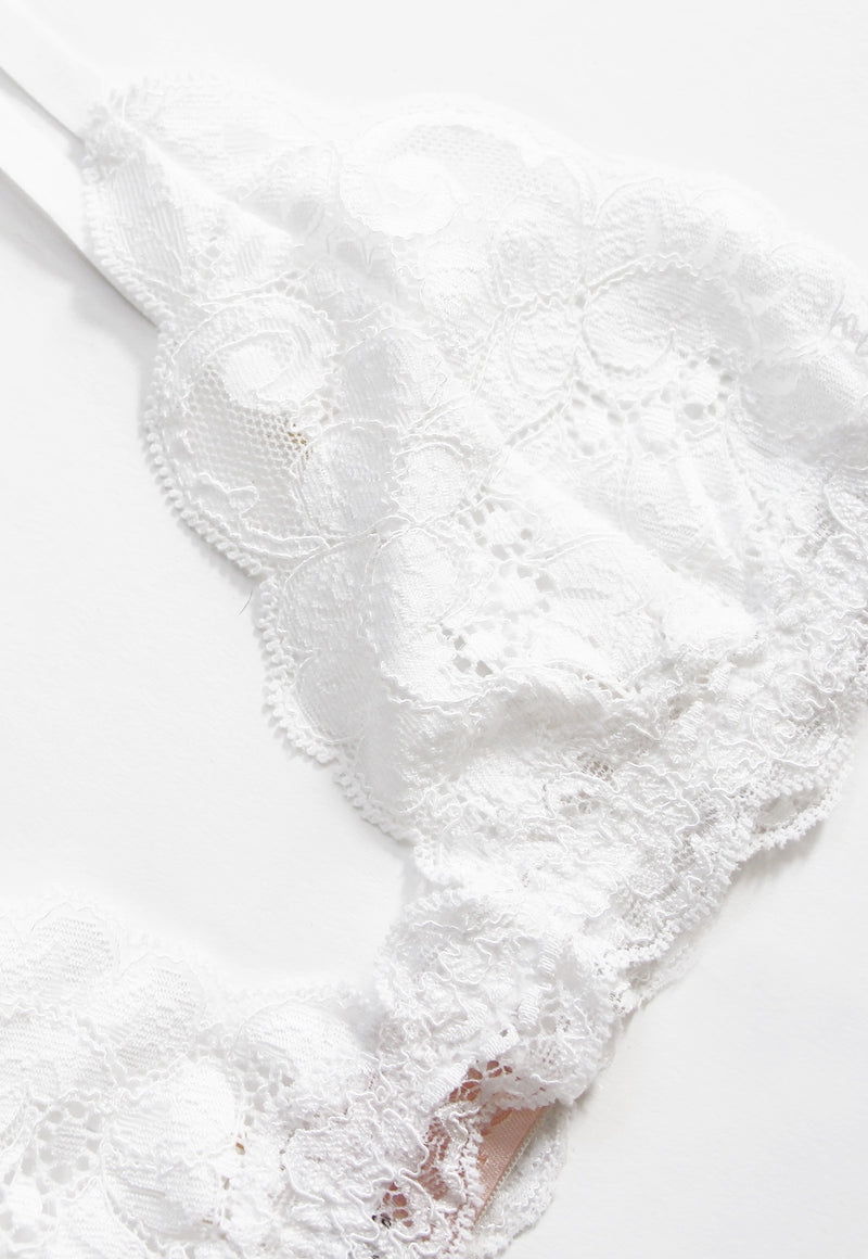 Bralette in Blanc, Intimates, HAH, - nois