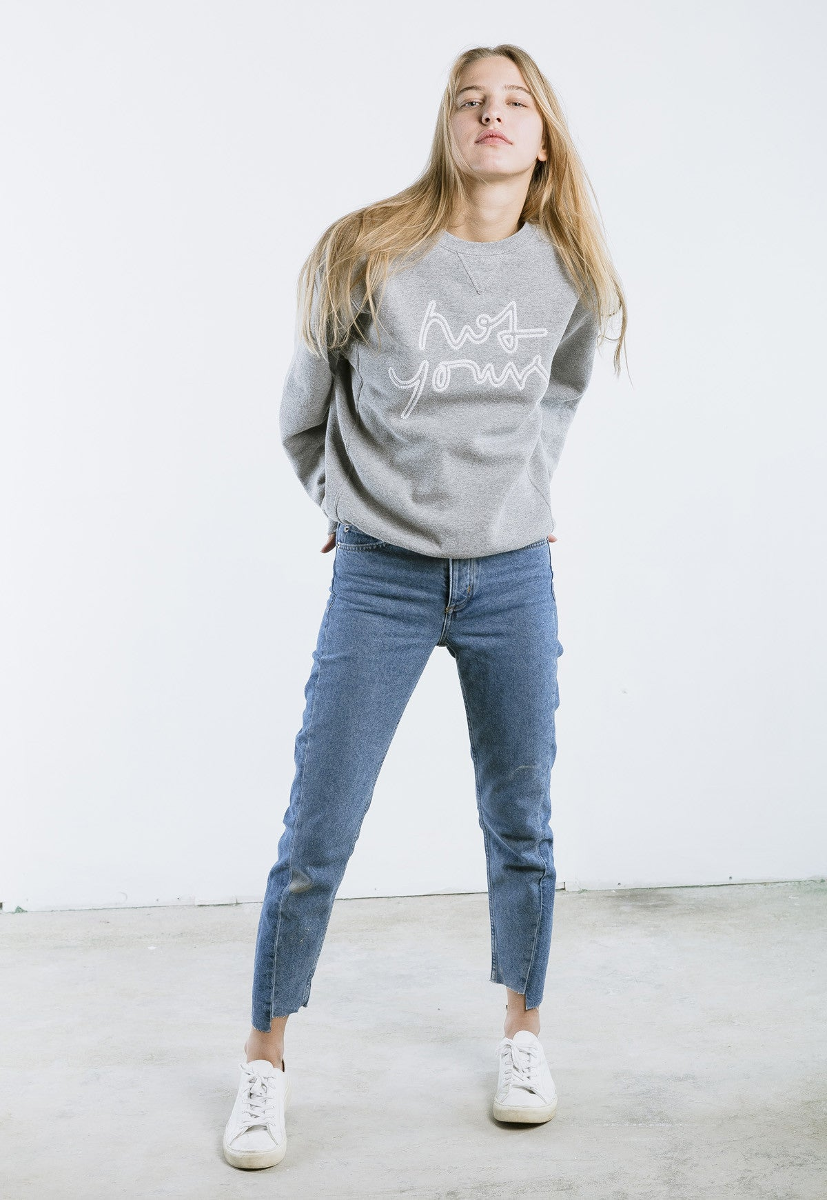 not yours, vegan, vegan slogan, cruelty free, animal free, animal rights, sweatshirt, crew neck, sweater, grey, gray - nois